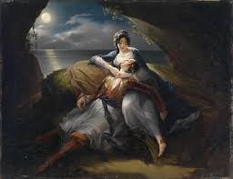 black hair painting angelika and medor scene from orlando furioso by ludovico ariosto by