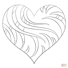 Heart Coloring Pages With Wings Flames 24 R Hearts Page Free 1186