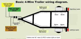 4 way trailer light wiring diagram wiring diagram and schematic trailer wiring color code at 4 Way Wiring Diagram For Trailer Lights