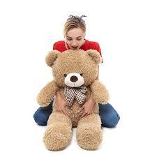 Big Light Brown Teddy Bear Amazon Com Pomco Big Teddy Bear Stuffed Animals Plush Toys