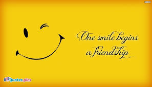 Quotes About Smile And Friendship Inspiration One Smile Begins A Friendship BffQuotesPics