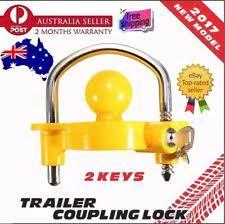 ball hitch lock. trailer parts hitch lock coupling universal tow ball caravan camping anti theft#