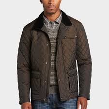 Pronto Uomo Brown Modern Fit Quilted Jacket - Men's Casual Jackets ... & See stylist-approved outfits for this item Adamdwight.com