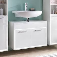 Waschbeckenunterschrank Waschtisch Badschrank Schrank Weiß Weiß