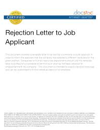 100 Employment Rejection Letter Template Greatest