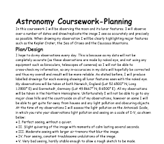 planning for lunar observations coursework gcse science marked  document image preview