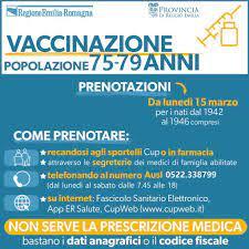 Vaccinazioni anti-Covid, da lunedì 15 marzo le prenotazioni degli over  75enni e le persone estremamente vulnerabili – Comune di Albinea