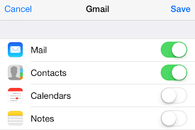 google contacts onto your iphone