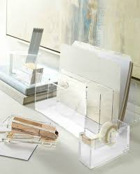 inspiring workspaces lucite desk accessories tsg