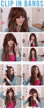 How To Make A Hair Style how to get a look with bangs without cutting your hair alldaychic 1321 by wearticles.com
