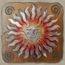 save 25 165383 27in sprite sun face panel 3d southwest metal wall art sunset