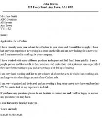 Ideas Of Cashier Cover Letter Example Icover In Cover Letter For