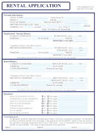 Rent Lease Application Form Free Printable Rental Application Template Tags Home Form