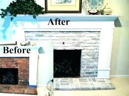 white brick fireplace brick fireplace surround painted brick fireplace before and after brick fireplace surround white