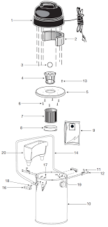 shop vac qpl650 vacuum parts repair schematics qpl650 10