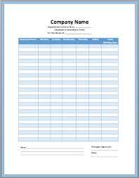 Employee Attendance Sheet Template Employee Attendance