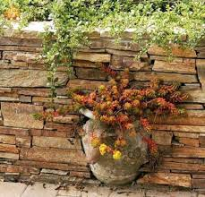 dry stone vase garden wall art