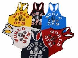 world gym ringer tank top