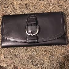 Coach Black Buckle Wallet