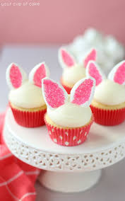 Cupcake Ideas For Bake Sale Easy Bunny Cupcakes Your Cup Of Cake