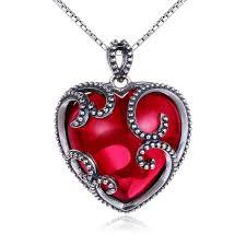 valentines sterling necklace corundum