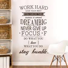 inspirational artwork for office. Inspirational Office Decor Work Hard Stay Humble Quotes Vinyl  Sticker For . Artwork L