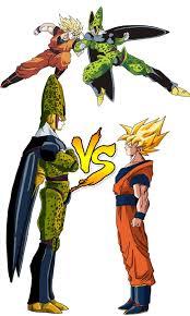 Goku Design Cell Vs Goku Design Dragon Ball Z Cartoon Dragon Ball