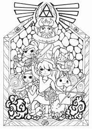 Zelda Coloring Pages Online