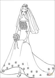 Small Picture Barbie in wedding dress coloring page Free Printable Coloring Pages