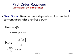 first order reactions concentration and time equation 01