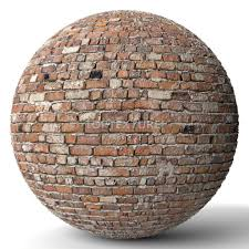 old clay bricks wall render preview