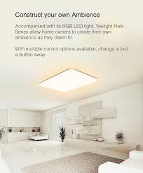 ĐÈN LED ỐP TRẦN THÔNG MINH XIAOMI YEELIGHT HALO 2020, YLXD49YL, 930X630 MM,  100W, RGB 16 TRIỆU MÀU, HỖ TRỢ APPLE HOMEKIT - Đèn trần Nhà sản xuất  Yeelight