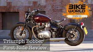 2017 triumph bonneville bobber first ride review bike world