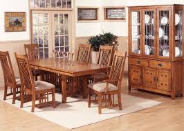 dining room mission oak finish cal dining room table tions set charming with bench chairs solid