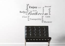 text quotes bathroom tranquility wall stickers on quote wall art uk with bathroom tranquility white text quotes wall stickers adhesive wall