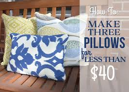 DIY Outdoor Pillows No Sewing Required Bubbly Design Co