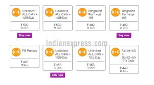 Vodafone Airtel And Reliance Jio Prepaid Recharge Plans