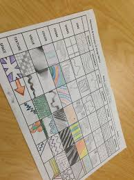 Elements And Principles Of Design Activities Design Matrix Art Worksheets Art Curriculum Art Handouts