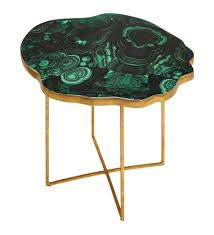 Description every living room needs a finishing touch and with the viviana gonzalez agate inspired coffee table, you're looking at it. Green Agate Gold Base Accent Side Table Gold Side Table Accent Side Table Side Table
