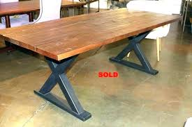 metal base pedestal dining table modern black kitchen winsome with