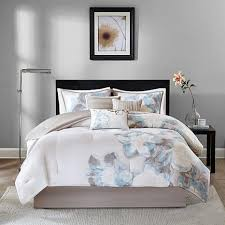 blue comforter sets queen. Contemporary Sets Madison Park Serena 7piece Blue Comforter Set  Queen For Sets