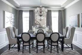 beautiful gray traditional dining room chicago kristin petro interiors inc looks very snowy