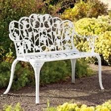 white iron garden furniture. perfect garden white aluminum garden bench wrought iron patio furniture world  with