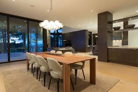 modern mansion dining room. Dining Table In Elegant Modern House West Vancouver, Canada Mansion Room