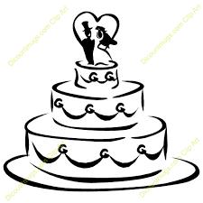 wedding cake clipart black and white. Beautiful Cake Wedding Shower Clip Art  Clipart 11938 Cake  Mugs T To Cake Black And White Pinterest