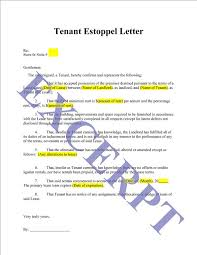 Tenant Estoppel Letter And Certificate Realcreforms
