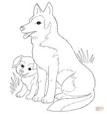 Small Picture Dog Mother And Puppy coloring page Free Printable Coloring Pages