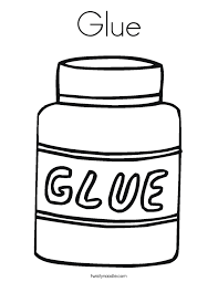 Small Picture Glue Coloring Page Twisty Noodle
