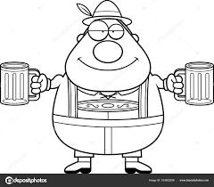 Cartoon Lederhosen Man Beer Stock Vector Cthoman 154805256