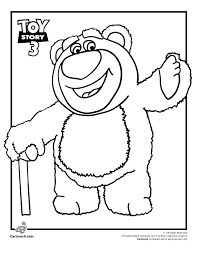 Lots O Huggin Bear Toy Story Coloring Page Disney トイストーリー